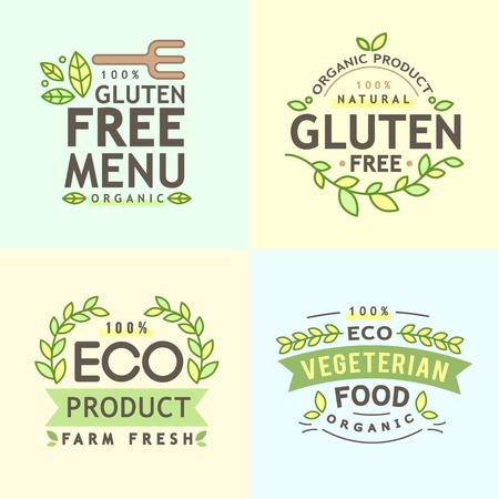 Illustration de logo alimentaire alimentaire réélue représentant Banque d'images - 76055468