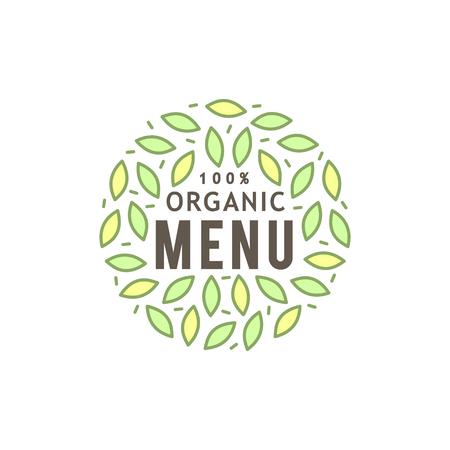 Healty food logo illustration representing