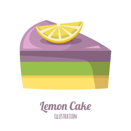 lemon cake vector illustration Illustration