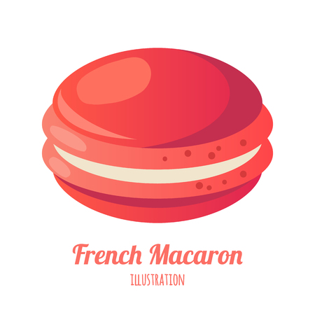 vector illustration of realistic isolated macaroon Illustration