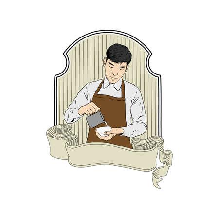barista vector design Illustration