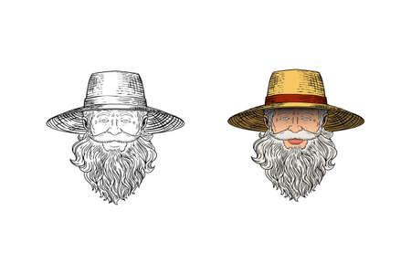 farmer head vector design illustration