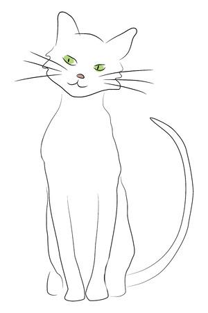 иллюстрация: Cute hand drawn style cartoon cat