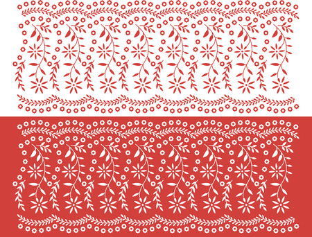 textiles: Floral seamless banners