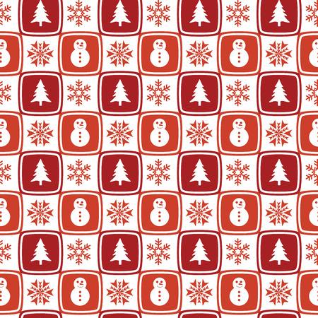 Seamless retro Christmas wallpaper Иллюстрация