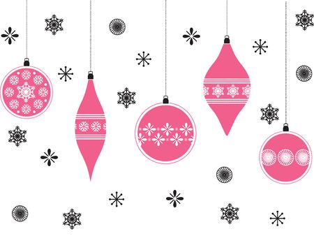 Roze kerst veel achtergrond