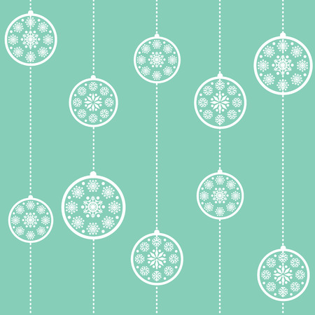 Blue Christmas baubles seamless wallpaper Stock Vector - 6076264
