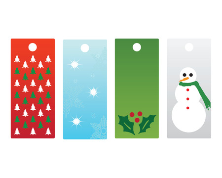 Set of four Christmas tags Stock Vector - 6076263