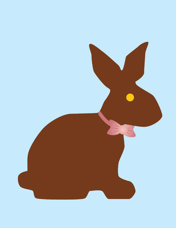 Chocolate Easter bunny  Illustration