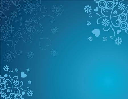 スワール: 渦巻き模様の抽象的な青花の背景
