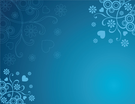 Abstract blue swirl floral background Vector