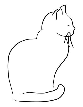 Hand getekende kat