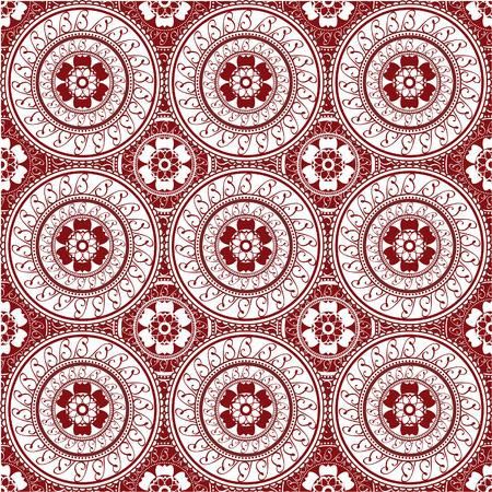 Naadloze achtergrond geïnspireerd door henna ontwerp