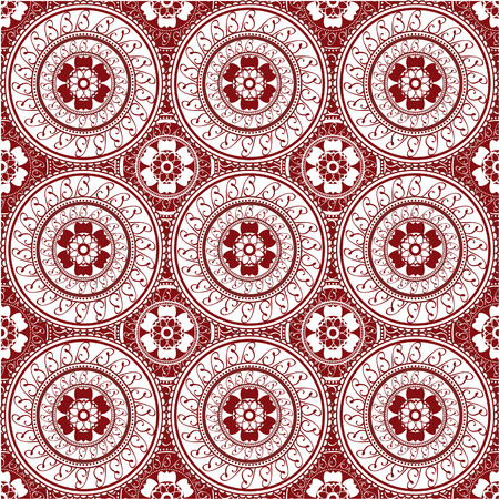 Seamless wallpaper inspired by henna design  Ilustração