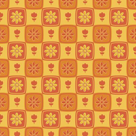 Seamless retro summer flower pattern