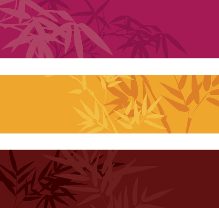 japanese style: Colorful bamboo banners with space for text