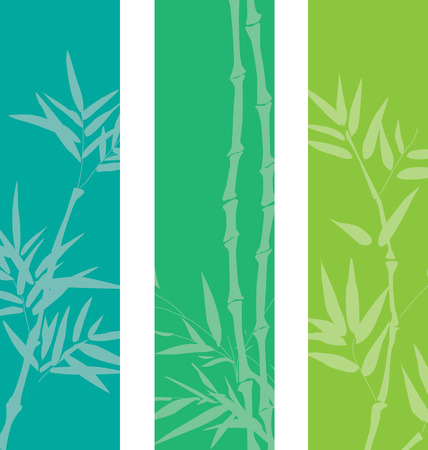 Colorful bamboo banners with space for text
