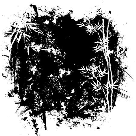 Grunge bamboo background Illustration