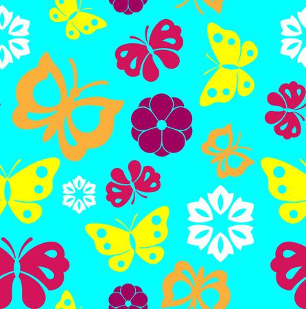 Kleurrijke naadloze butterflies achtergrond
