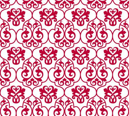 Naadloze roze klassieke behangsel papier