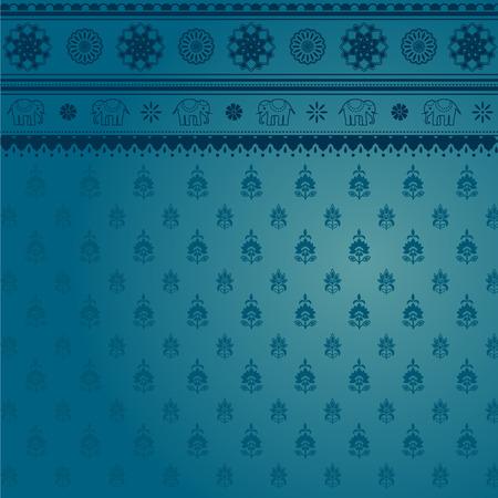 sari: Fondo azul S�ri India