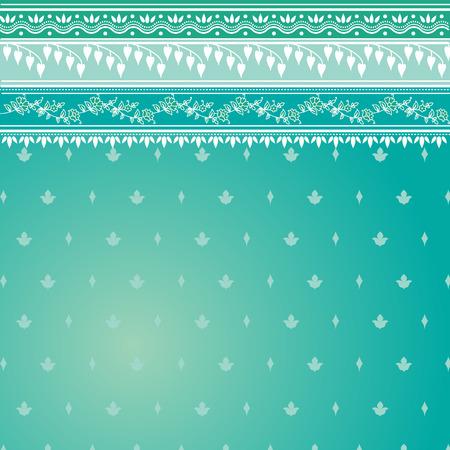 indien muster: Blau indisch Sari Hintergrund Illustration