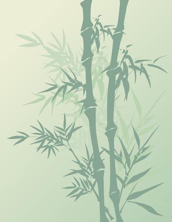 전통 중국어 회화 스타일 대나무 배경