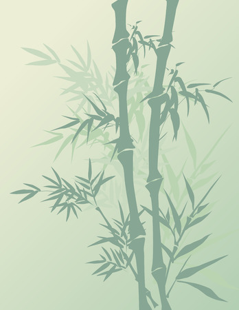 Traditional Chinese painting style bamboo background
