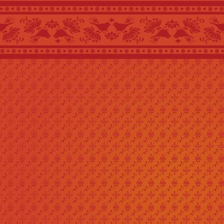 saree: Indian floral bird saree background design Illustration