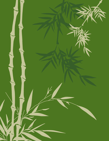 Traditional Chinese painting style bamboo background with space for text Vector
