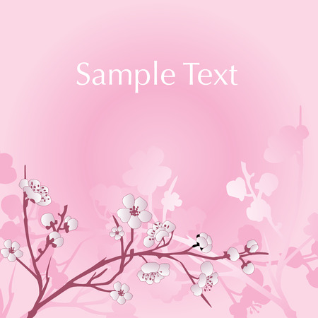 Vector asian style flower background Illustration