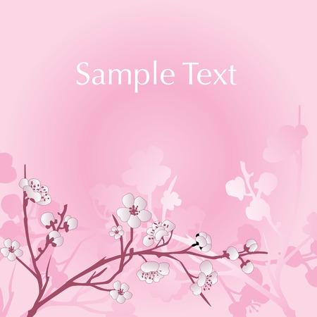 Vector asian style flower background Çizim