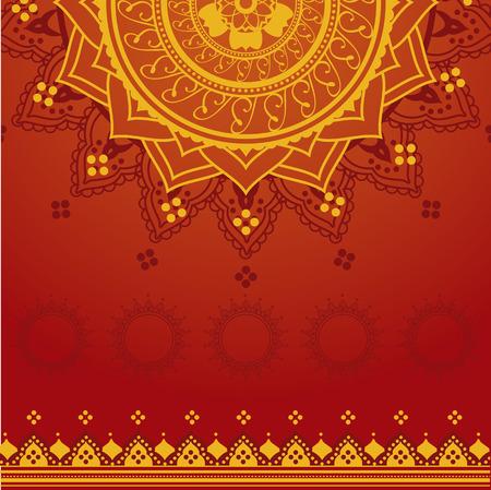 Gele en rode Indiase saree achtergrond