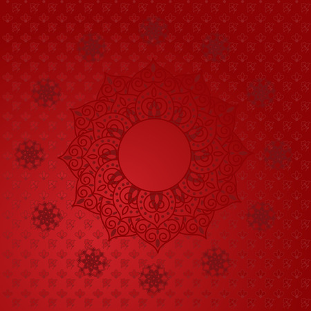 mandala: Red Indian mandala background Illustration