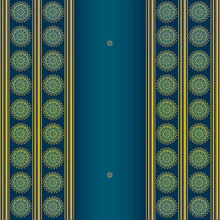 east indian: Blue and gold Asian background design