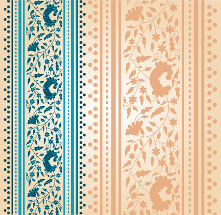 Traditional blue floral Indian saree background