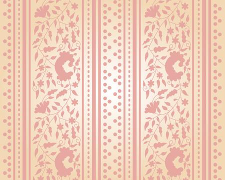 Classical cream floral wallpaper