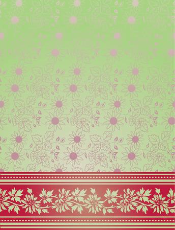 saree: Traditional Indian saree pink and green background