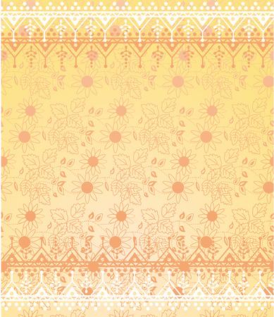 henna design: Amarillo patr�n de papel tapiz floral con henna fronteras de dise�o