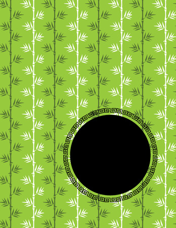 lucky bamboo: Traditional Asian green bamboo design book cover or flyer with space for text