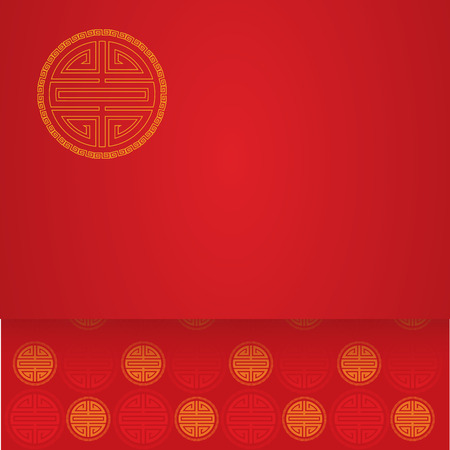 Chinese symbol red background with space for text Ilustração