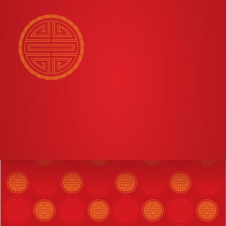 Chinese symbool rode achtergrond met ruimte voor tekst