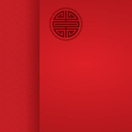 Chinese golfpatroon rode achtergrond met ruimte voor tekst