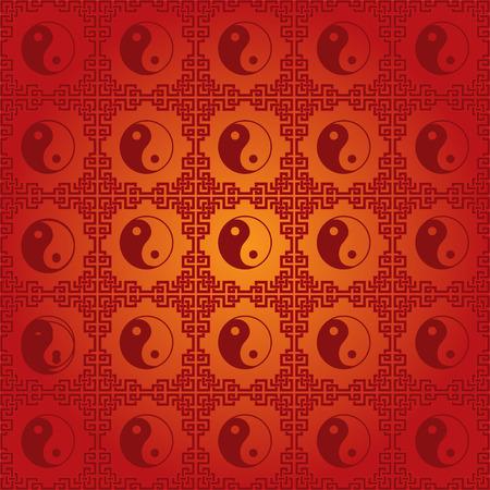 Traditional Chinese yin yang symbol seamless wallpaper