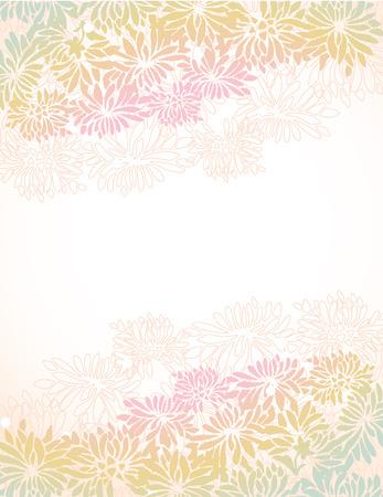 Colorful Asian progettazione di confine crisantemo con lo spazio per il testo