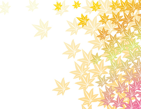japanese maples: Asian maple leaves border pattern with space for text Illustration