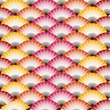 Traditionele kleurrijke Japanse fans patroon achtergrond