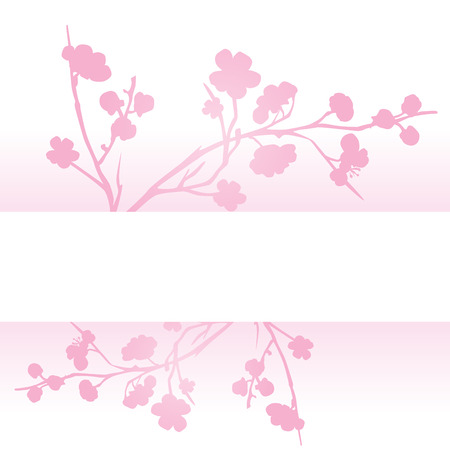Asian traditional pink cherry blossom background with space for text