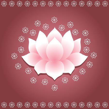 Asian lotus background