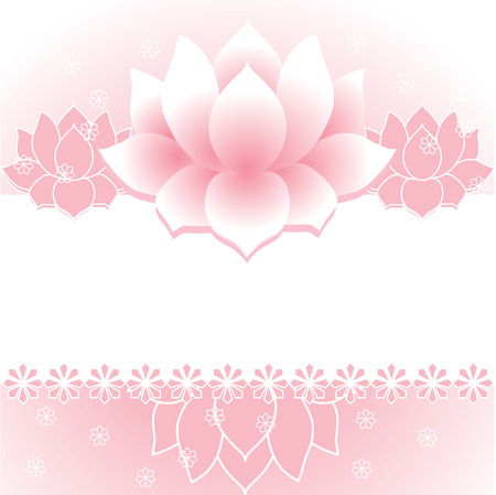 new age: Pink traditional Asian lotus background with space for text